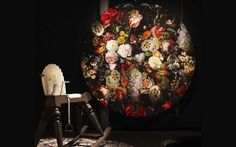 Round rug with floral pattern EDEN QUEEN By moooi design Marcel Wanders Wall Carpet, Rugs On Carpet, Marcel, Queen, Round Rugs, Animal Sculptures, Decorative Objects, Decoration, Design Inspiration
