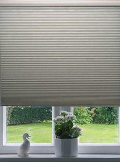 Beige Roman Shades Ashton Stripe Collection Plain Fold 24W x 36H