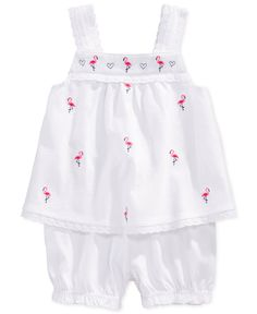 First Impressions Baby Girls' 2-Piece Schiffli Top & Bloomers Set - Kids First Impressions - Macy's