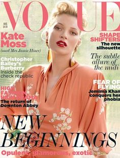 AUGUST 2011: EDITOR: Alexandra Shulman COVER: Mario Testino MODEL: Kate Moss