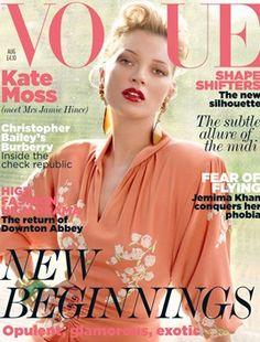 AUGUST 2011:   EDITOR: Alexandra Shulman  COVER: Mario Testino  MODEL: Kate Moss