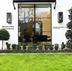 Sheryl's Ultra Contemporary Gas Lantern - Farmhouse - Exterior - Houston - by Sheryl Stringer Gas Lanterns, Gas Lights, Modern Farmhouse, Sconces, New Homes, Exterior, Windows, Contemporary, Houston