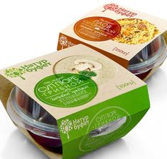 Natur Bufet on Behance Salad Packaging, Yogurt Packaging, Dairy Packaging, Dessert Packaging, Food Packaging Design, Packaging Design Inspiration, Branding Design, Bowl Designs, Food Labels
