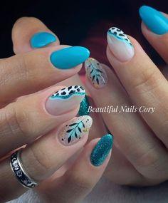 Blue Nail Designs, Beautiful Nail Designs, Cute Nail Art, Cute Nails, Gel Nails, Nail Polish, Gel Manicures, Merry Christmas Gif, Color Street Nails