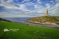 Siempre espectacular la Torre de Hércules, la imagen de #ACoruña vía @RubnCaridad1 #SienteGalicia