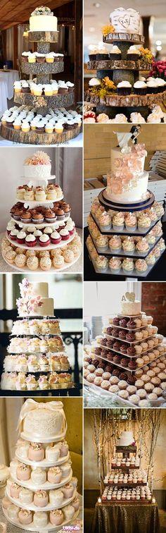 50 Steal-Worthy Wedding Cake Ideas For Your Special Day alternative cupcake hochzeitstorte ideen Perfect Wedding, Fall Wedding, Rustic Wedding, Our Wedding, Dream Wedding, Wedding Ideas, Trendy Wedding, Wedding Bands, Wedding Quotes