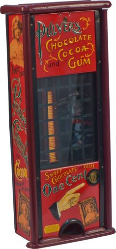 1 Cent Pulver Chocolate And Cocoa Vending Machine, 1909