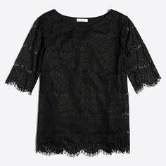 J.Crew+Factory+-+Lace+blouse  XS Petite