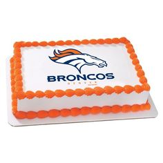Denver Broncos Cake Topper | My Party Helpers | $9.49 Free Shipping