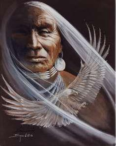 Spirit of the Eagle - artwork by ?   'The Great Ones sat in silence many hours of many days as they too could only ponder the hands of man and all that the earth endures from harm. What shall we do when we are through using all the gifts up around us?'  Never do harm as you journey softly, please be aware the Earth needs kindness.