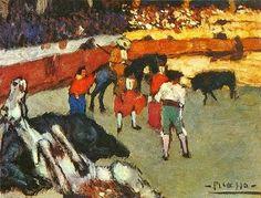 PICASSO/corrida de toros con caballo agonizando, 1901.
