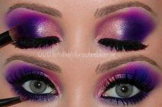 purple and pink eyeshadow
