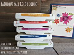 Fabulous Fall Color Combo! Check out the video tutorial for these colors and that gorgeous card on my blog using Stampin Up's Blooms & Wishes Stamp set at www.thecreativitycave.com #stampinup #colorcombo #thecreativitycave #bloomsandwishes