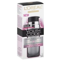 L'Oreal Paris Youth Code Regenerating Skincare Serum Intense Daily Treatment, 1-Fluid Ounce by L'Oreal Paris. $21.99. Reduces signs of stress, fatigue and aging. 10 years of gene research; Powdery soft finish with soft focus effect. Non-Comedogenic; Fast absorbing. Dermatologist tested for gentleness. Youth regenerating skincare. L'Oreal advance research has selected an ultra-penetrating silky serum texture to deliver instant skin transformation. Why is youth code ...