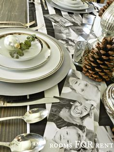 What a fabulous idea to add family photos to your table..