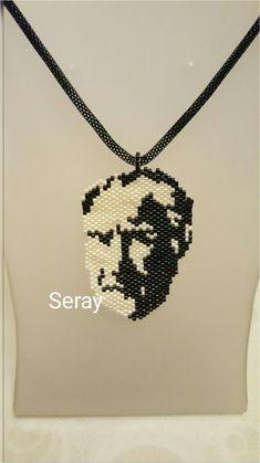 My work. Miyuki beads. Atatürk Seed Bead Art, Seed Beads, Brick Stitch, Diy Necklace, Beaded Jewelry, Diy And Crafts, Jewelery, Projects To Try, African Women