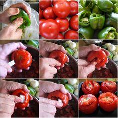 καθαρόαιμα γεμιστά πολίτικα - η συνταγή   Pandespani Stuffed Peppers, Vegetables, Cooking, Food, Kitchen, Stuffed Pepper, Essen, Vegetable Recipes, Meals
