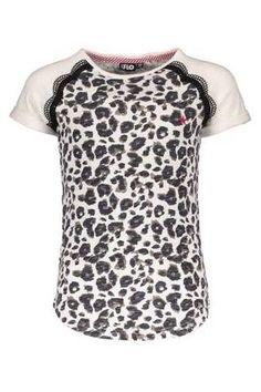 4d1cd63c5fd4ca Like Flo Shirt - Meisjes T-shirt van Like Flo met een allover luipaard print