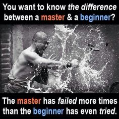 What's the difference between a master and a beginner?