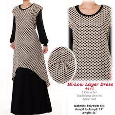 2 Layers High Low Muslim Islamic Abaya Long Sleeves by MissMode21, $28.00