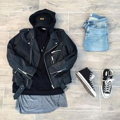 WEBSTA @ streetfitgrid - #StreetFitGrid by @oliviergosseau Leave your thoughts! -Jacket / sandro-Hoodie / offwhite-Tank / fearofgod-Pants / acnestudios-sneakers / converse70s