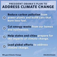 President Obama's plan to address climate change