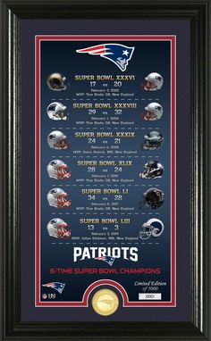 "Highland Mint Super Bowl Champions New England Patriots ""Legacy"" Supreme Bronze Coin Photo Mint Patriots Cheerleaders, Patriots Team, New England Patriots Football, New England Patriots Wallpaper, New England Patriots Merchandise, Nfl Super Bowl History, Go Pats, Boston Strong, Boston Sports"