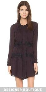Fore Off Shoulder Dress Button Up A-Line Dress $1,250.00 @ shopbop