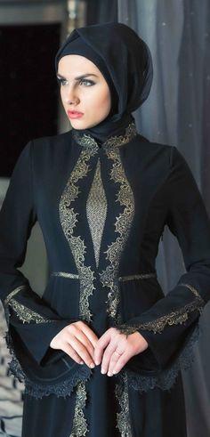Style-N-Stylish Awesome Sit forupdates about all topic's Hijab Abaya, Hijab Dress, All Black Dresses, Nice Dresses, Sexy Dresses, Abaya Fashion, Modest Fashion, Moslem Fashion, Hijab Style