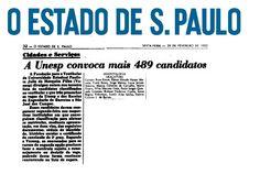 Aprovados Vestibular 1983 da Faculdade de Odontologia de Araçatuba - 3ª Chamada. Entre os aprovados, a Profa. Suzely Adas Saliba Moimaz e Prof. Robson Frederico Cunha