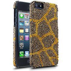 DeBari Giraffe Print: Yellow iPhone 5 Case - #Gold #Yellow - $49.99 - https://www.cellairis.com/product/debari-giraffe-case-for-apple-iphone-5-gold
