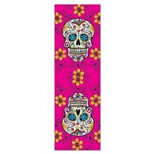 Sugar Skull BRIGHT PINK Yoga Mat