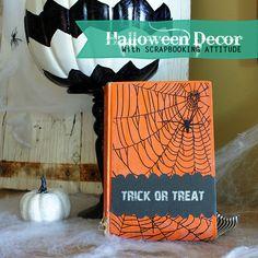 adorable Halloween Decor DIY by @savedbyloves #scrapattitude