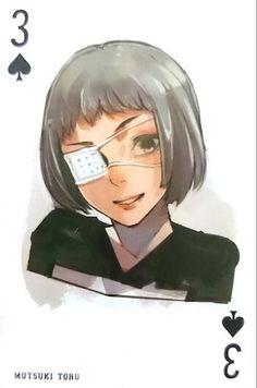 Mutsuki ~ 3 of Spades ~ Tokyo Ghoul trump cards