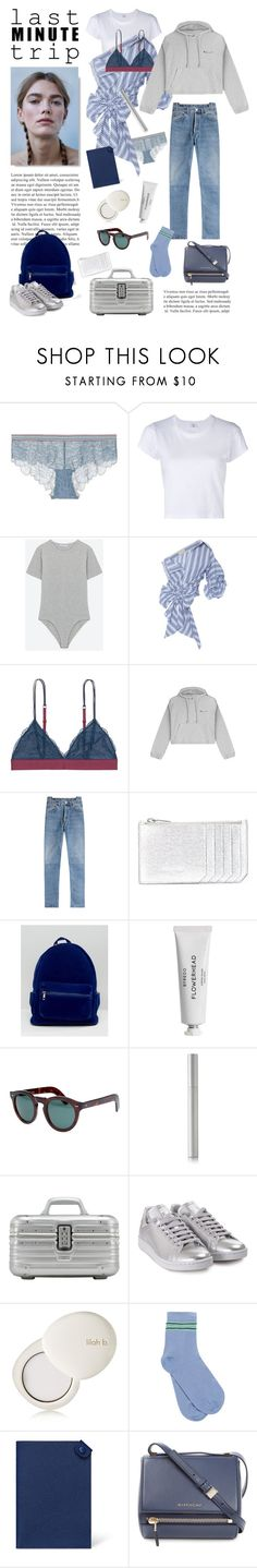 """last minute"" by fabuluz ❤ liked on Polyvore featuring LoveStories, RE/DONE, Johanna Ortiz, Vetements, Yves Saint Laurent, Daisy Street, Byredo, Cutler and Gross, rms beauty and Rimowa"
