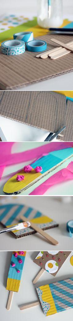 Pahvijätskit | lasten | askartelu | kesä| käsityöt | koti | DIY ideas | kid crafts | summer | home | Pikku Kakkonen