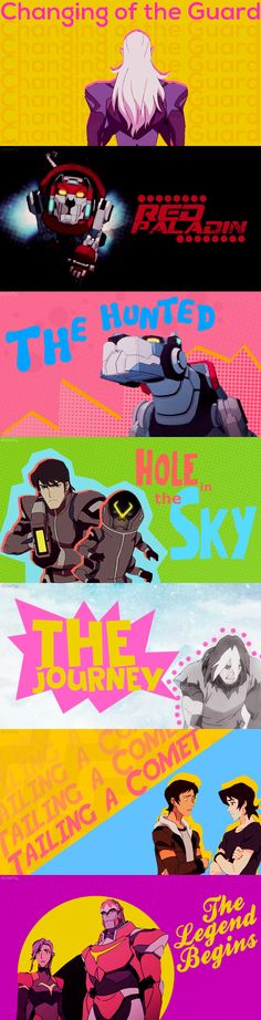 Voltron Season 3 Title Graphics from doopity on Tumblr #voltron