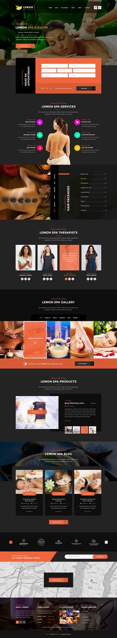 Lemon is a Spa and Beauty PSD template with minimal and modern design. If you are looking for a Trendy #Spa Salon kind #Website, Lemon is the best fit for you.