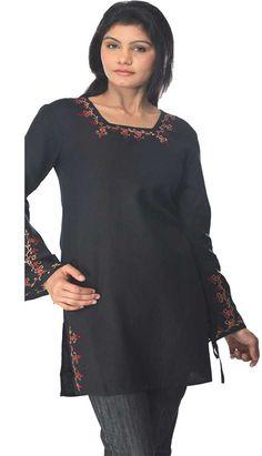 Buy now latest design Black #LinnenKurti  Product code: KK-191A Price: INR1057.78 (Standard), Color: Black Shop Online now: http://www.efello.co/Kurti_Black-Linnen-Kurti_283