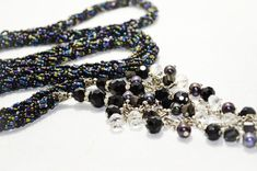 Black Lariat Necklace Long Beaded Rope Jewelry Black Agate Lariat Necklace Handcrafted Beaded Jewelry Gift Ideas for Mom : Black Beaded Lariat Necklace Long Beaded Rope Lariat Black Rope Jewelry, Seed Bead Jewelry, Etsy Jewelry, Gemstone Jewelry, Jewelry Gifts, Beaded Jewelry, Jewelry Necklaces, Beaded Bracelets, Seed Beads
