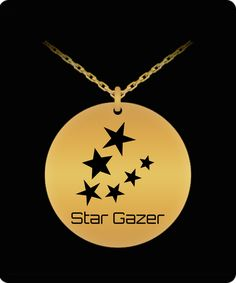 Stargazing, Laser Engraving, The Incredibles, Necklaces, Stars, Pendant, Gold, Design, Hang Tags