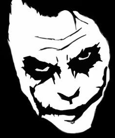 joker stencil - Google Search