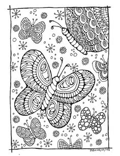 Butterfly Wings Coloring pages colouring adult detailed advanced printable Kleuren voor volwassenen coloriage pour adulte anti-stress kleurplaat voor volwassenen Adult Colouring Page - Butterflies:Original Black and White Drawing, Immediate Digital Download
