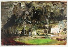 ✽   john piper  -    'ludlow castle'  -    screen print  -  1972 -  the piper estate  -  poulwebb.blogspot.co.uk