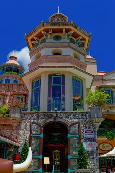 Restaurant Facade at the Waterfront of Port Louis, Mauritius