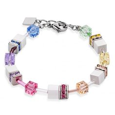 £59 + free UK delivery.  Buy this pretty Coeur de Lion multi colour pastel and white bracelet 2838/30-1552 from Jools here. Matching necklace & earrings available. http://joolsjewellery.co.uk/shop/coeur-de-lion-multi-pastel-white-bracelet-2838-30-1552/