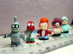 Polymer Clay Mini Figure - Futurama by giggomon