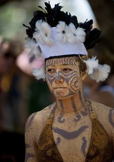 Beautiful Woman During Carnival Parade, Tapati Festival, Easter Island, Chile by Eric Lafforgue, via Flickr