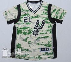 Camiseta Manga Corta 2014-15 Camuflaje San Antonio Spurs #20 Tim Duncan  €24.9