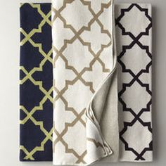 Classic 8 star Moroccan motif on fabric by Horchow